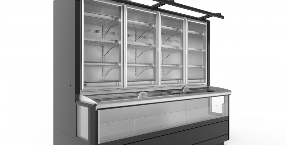 Well Half Glass Door Freezer Cabinets