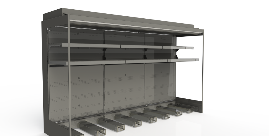 Produce & Roll In Milk Cabinets