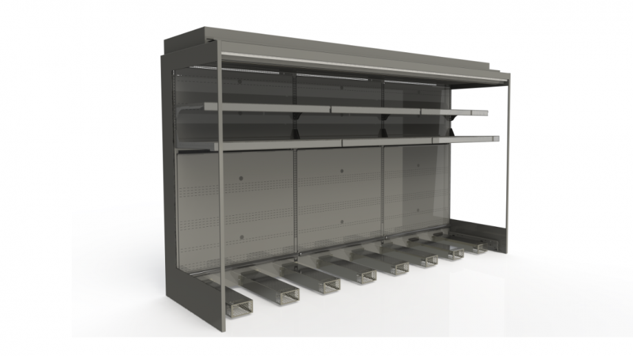 produce and roll in milk cabinets